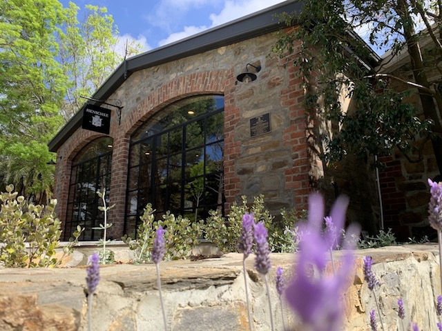 Henschke Cellar door tours, here you can see the stone building where you will sample great wines from the Henschke family, wine tastings here are a great experience and Henschke wines are worn class.