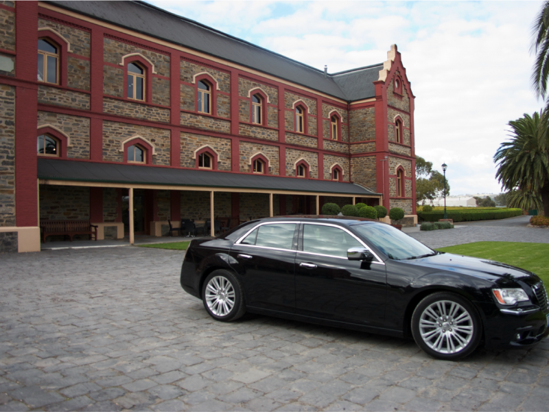 Chateau Tanunda winery tour Barossa Valley in a luxury car.